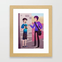 Older stuff - Punchy and Reco Framed Art Print