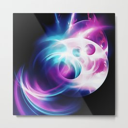 abstract fractals 1x1 reacc80 Metal Print