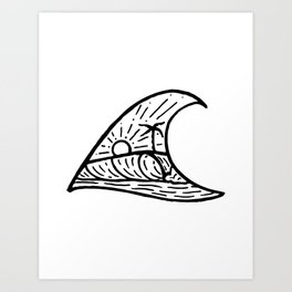 Wave in a Wave Art Print