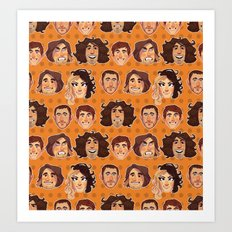 Game Grumps Pattern New Art Print