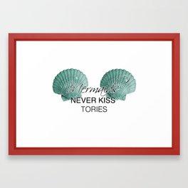 Mermaids Never Kiss Tories Framed Art Print