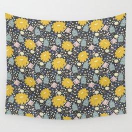 Ramona: a Modern Floral Pattern Wall Tapestry