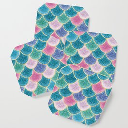 Glittery Mermaid Scales Coaster