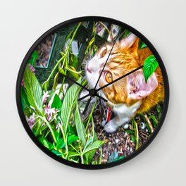 The Pumpkin in the Garden Wall Clock