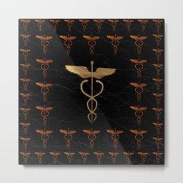 Caduceus - Symbol of Healing Metal Print