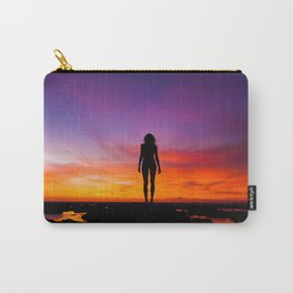 SUNRISE - SUNSET - WOMAN - BLACK - PHOTOGRAPHY Carry-All Pouch