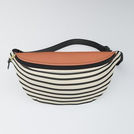 Sunrise / Sunset - Orange & Black Fanny Pack