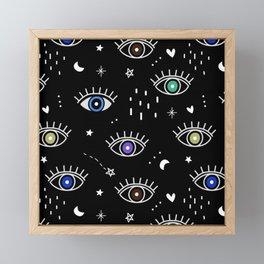 Eyes In the Dark Framed Mini Art Print