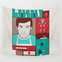 dexter Wall Tapestries featuring Dexter by Josè Sala