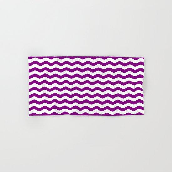 Wavy Stripes (Purple/White) Hand & Bath Towel
