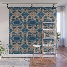 Shades of Blue Abstract Wall Mural