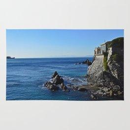 Amazing sea landcape from Genova , Italy Rug