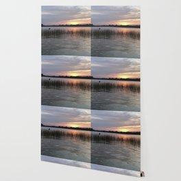 Grass Island Sunset Wallpaper
