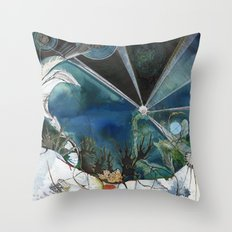 Exploration: Coral Throw Pillow