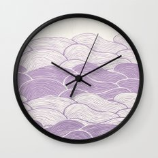 The Lavender Seas Wall Clock