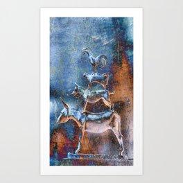 Bremer Stadtmusikanten Art Print