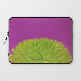 Green Button Spray Chrysanthemum Laptop Sleeve