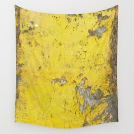 Yellow Weathered Wood rustic decor Wall Tapestry