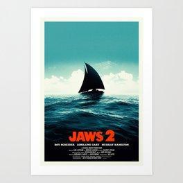 Jaws 2 Art Print