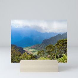 Kalalau lookout in Koke'e State Park - Kauai, Hawaii Mini Art Print