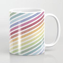Stripes rainBow Pixels Coffee Mug