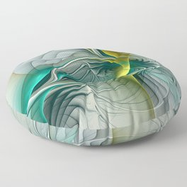 Fractal Evolution, Abstract Art Graphic Floor Pillow