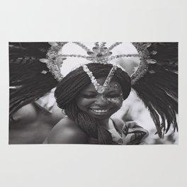 black white photo Rug