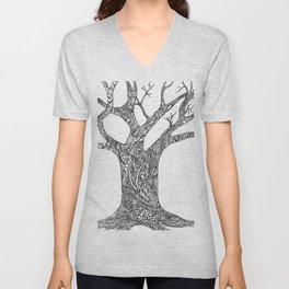 Tree Doodle Unisex V-Neck