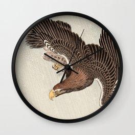 Koson Ohara - Eagle - Japanese Vintage Woodblock Painting Wall Clock