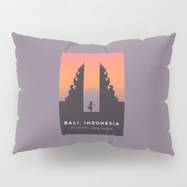 Bali Temple, Indonesia, Pura Penataran Agung Lempuyang Travel Poster Pillow Sham