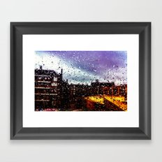 Rainy Window Framed Art Print