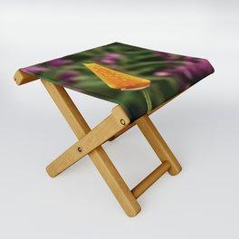 Dewy Poppy Bud Folding Stool