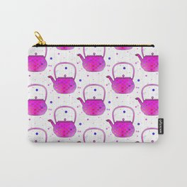 Pink Teapots Carry-All Pouch