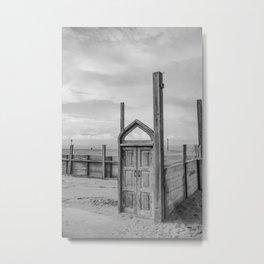 Desolation is cool too - Scheveningen Den Haag The Netherlands photo | Black and white urban landscape urbanscape abandoned beach noir monochrome photography art print Metal Print