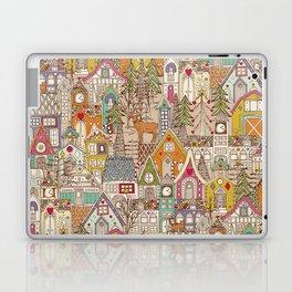 vintage gingerbread town Laptop & iPad Skin