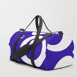 Circles Dots Bubbles :: Blueberry Duffle Bag