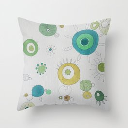 Bloom Space No.1 Throw Pillow