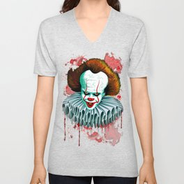 The Dancing Clown - Pennywise IT - Vector - Stephen King Character Unisex V-Neck