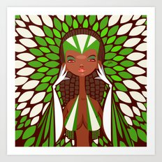 FIFA 2014 Samba Girls Series: Nigeria Art Print