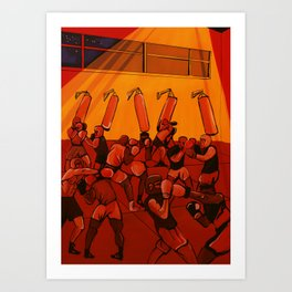 boxe training Art Print