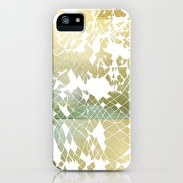 Fractured Gold iPhone Case