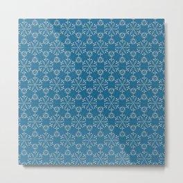 Hexagonal Circles - Stone Metal Print