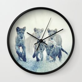 taking care of the future Wall Clock
