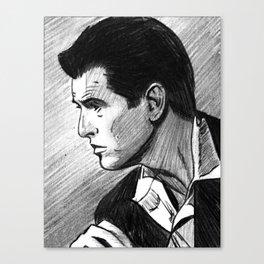 Portrait of Pierce Brosnan Canvas Print