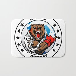 MMA fighter bear Bath Mat