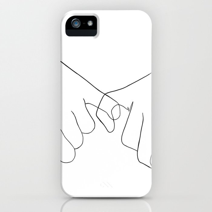 Pinky Promise Iphone Case By Blackhoneyart