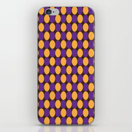Purple and Yellow Circles iPhone Skin