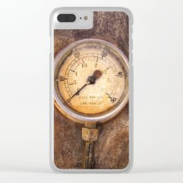 pressure - vintage industrial meter Clear iPhone Case