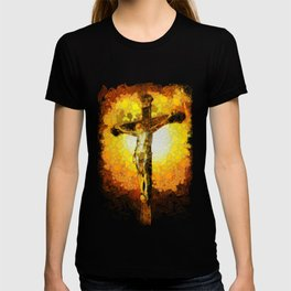 Jesus on the cross in the Impressionist style T-shirt