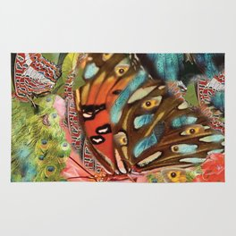 Butterfly in the garden Rug